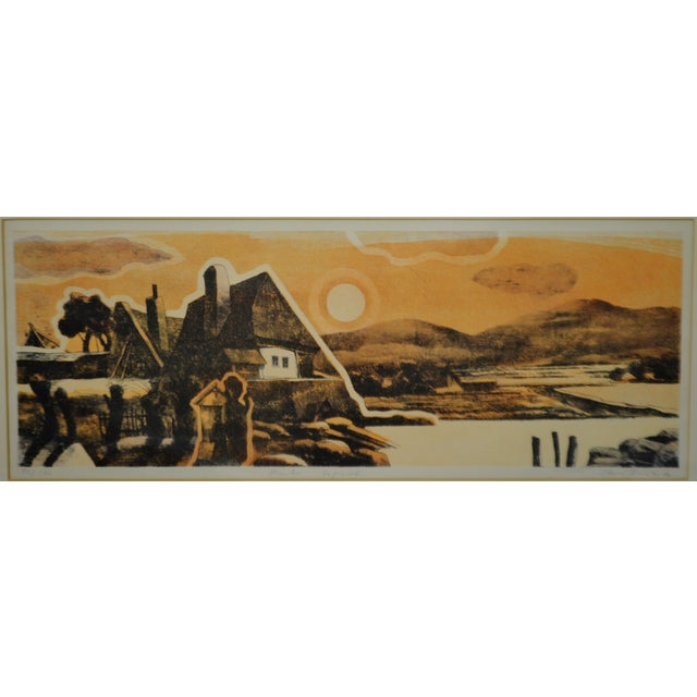 Abstract Expressionism Vintage Framed Limited Edition Landscape Serigraph - Signed and Numbered For Sale - Image 3 of 13