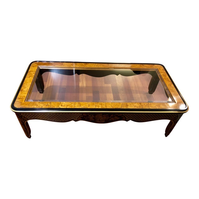 1980s Chinoiserie Drexel Heritage Coffee Table For Sale