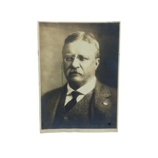 "Vintage Black & White Photograph, ""Theodore Roosevelt"" For Sale"