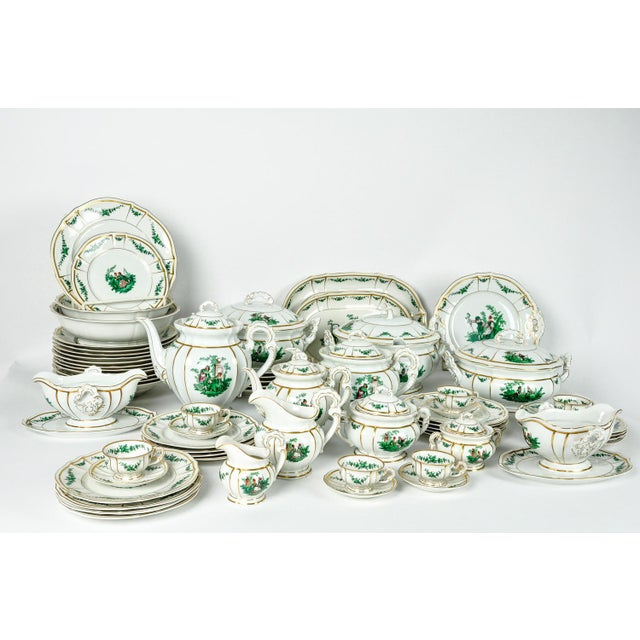 English Traditional Antique English Dinnerware Service - Set of 67 For Sale - Image 3 of 9
