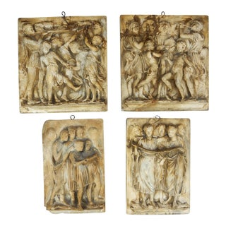 Set (4) 19th Ct. Classical Style Plaster Plaques Florentine Plaster Co. Philadelphia For Sale
