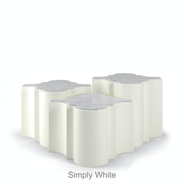 Sofia Nesting Tables, Set of 3 - Simply White For Sale In Los Angeles - Image 6 of 6
