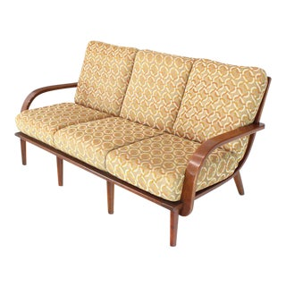 Conant Ball Russel Right Solid Bent Maple Sofa For Sale