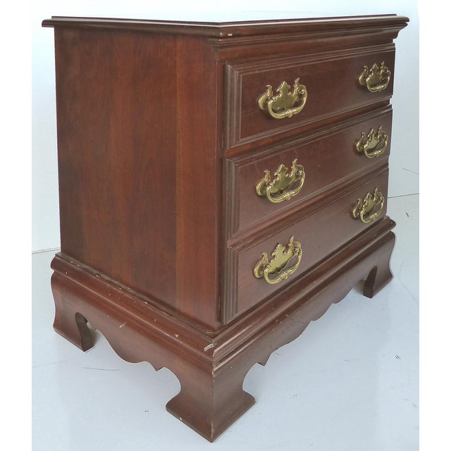 Chippendale Style Mahogany Nightstands - A Pair - Image 4 of 9