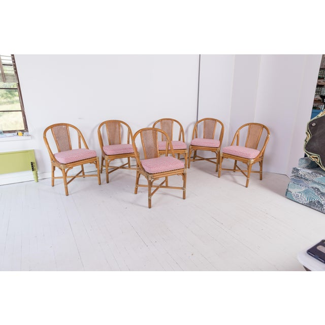 1960s Vintage McGuire Furniture Rattan Dining Chairs- Set of 6 For Sale - Image 13 of 13