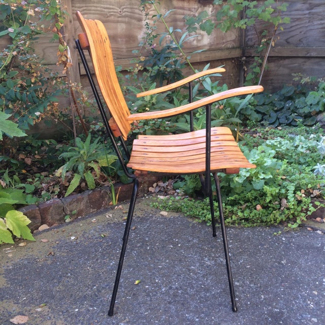 Metal 1950s Vintage Umanoff Slat Dining Chairs- Set of 6 For Sale - Image 7 of 13