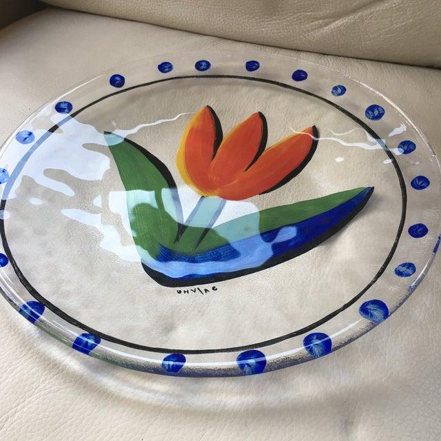 Art Glass Contemporary Scandinavian Kosta Boda Tulipa Platter For Sale - Image 7 of 8