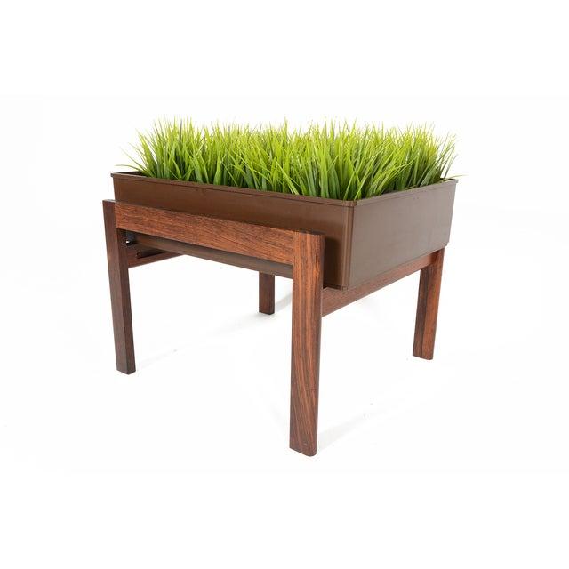 Danish Modern Rosewood Framed Planter - Image 3 of 5
