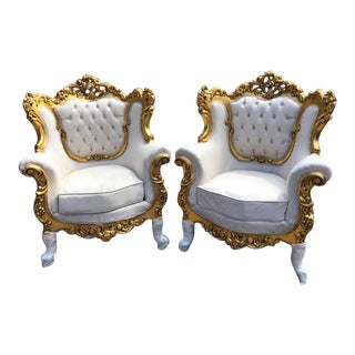 French Louis XVI Style Chairs - A Pair For Sale