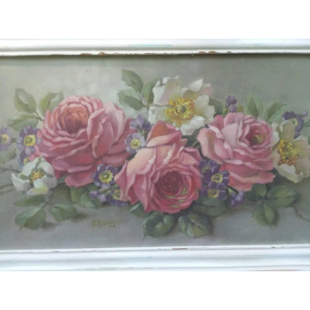 Christie Repasy Shabby Chic Floral Painting - Image 3 of 5
