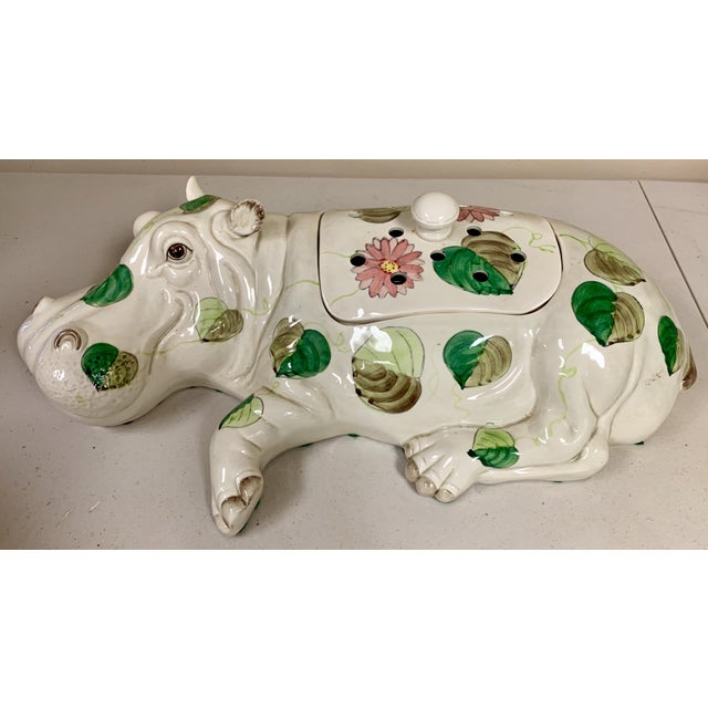 Fitz & Floyd Hippo Serving Piece / Flower Frog For Sale In Atlanta - Image 6 of 9