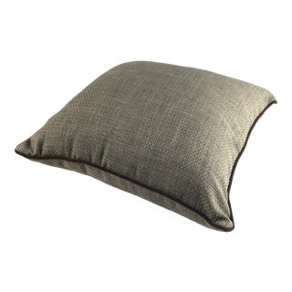 Linen Look Accent Pillow by Creative Home Furnishings Inc For Sale
