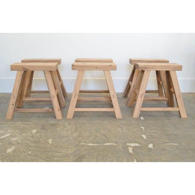 Wood Ozshop Antique Oak Stools For Sale - Image 7 of 7
