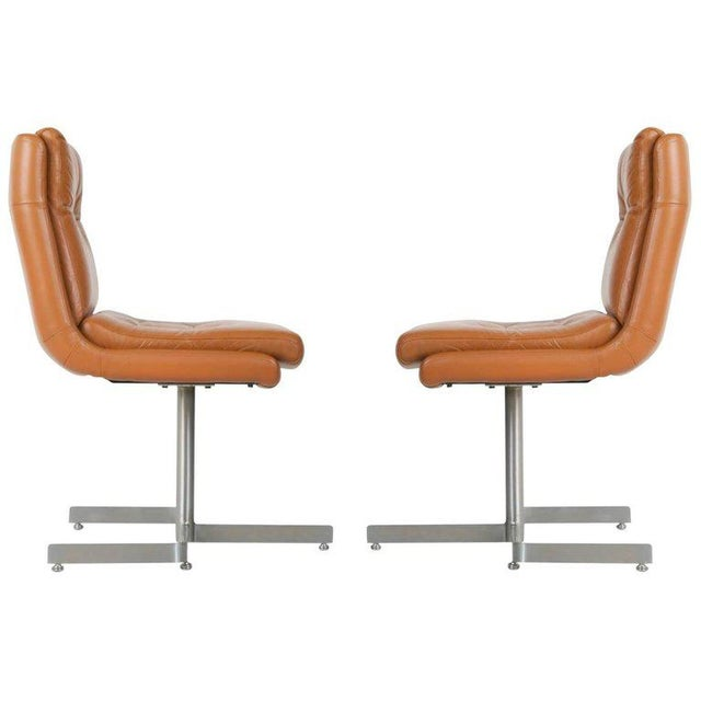 1970s Leather Lounge Chairs by Raphael, France - a Pair For Sale - Image 13 of 13
