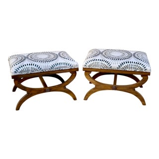 Regency Style Curule Benches - a Pair For Sale