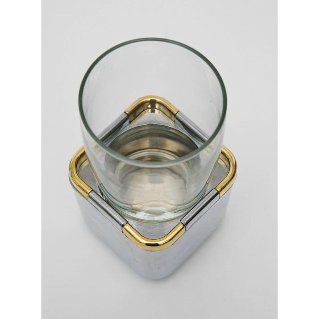Set of 17 Resin,Glass and Gold-Plated Patio/Garden Pool Drinking Glasses For Sale - Image 9 of 11