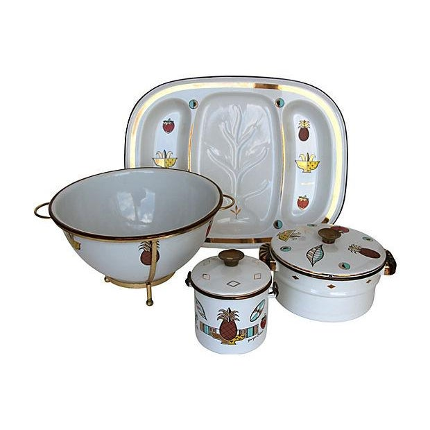 Georges Briard Enamelware Set - 7 Pcs - Image 2 of 6