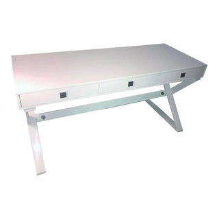 Sunpan Modern Emilio White High Gloss Desk For Sale