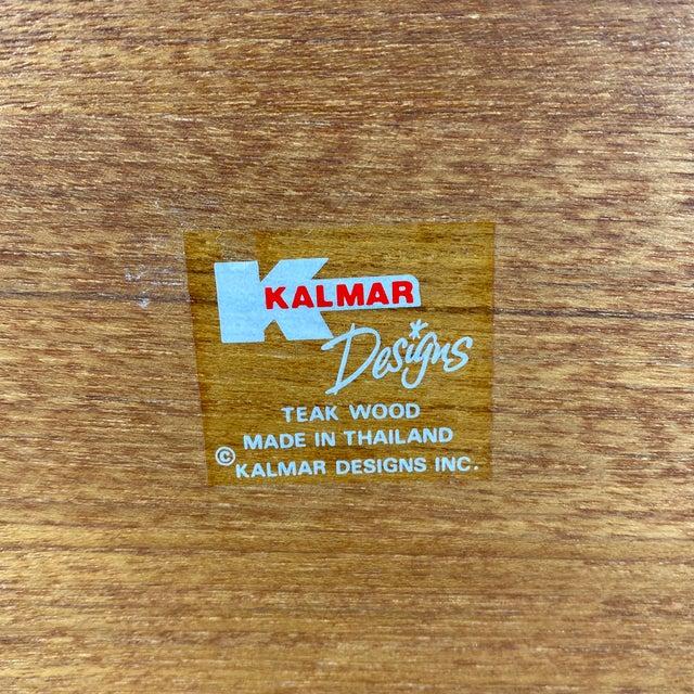 Wood 1970s Vintage Kalmar Designs Thai Teakwood Letter Tray For Sale - Image 7 of 13