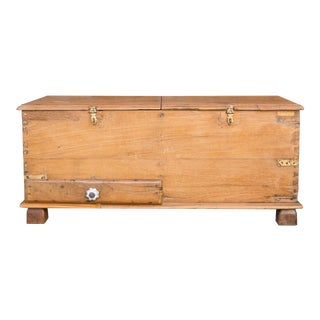 British Colonial Document Teak Box For Sale