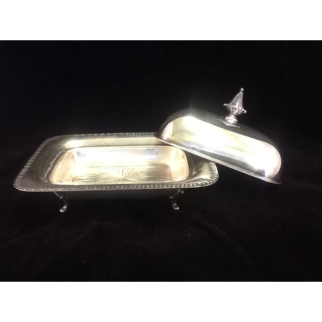Vintage Silver Plated Footed Butter Dish - Image 2 of 5