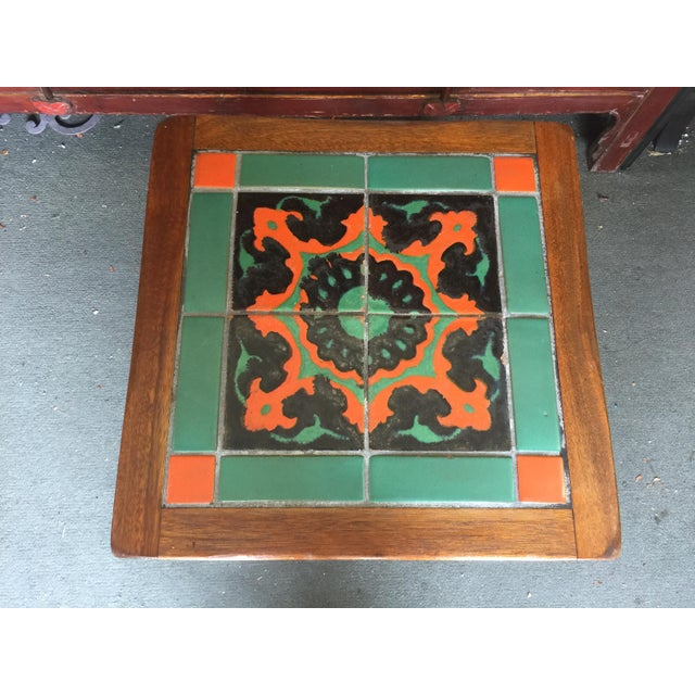 Vintage mission tile top table. Made in California 1930's. In overall very good condition. There is Some wear to the...