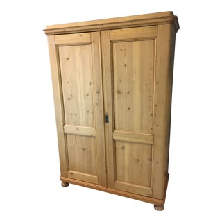 19th Century Country Pine Armoire For Sale