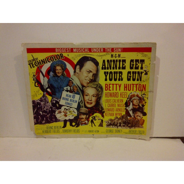 "A Vintage Movie Poster -- ""Annie Get Your Gun"" -- Starring -- Betty Hutton And Howard Keel -- R56/232 -- Copyright 1956 --..."
