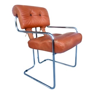 """Tucroma"" Leather Armchair by Pace For Sale"