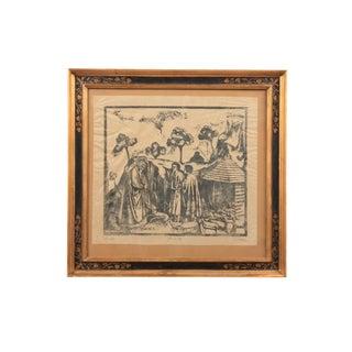 Joachim among the Shepherds Woodblock Print
