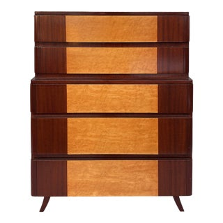 American Mid-Century Modern Tall Chest of Drawers by Rway Furniture Co. C1965 For Sale
