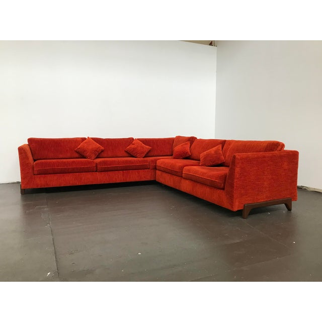 L shaped sectional by Adrian Pearsall for craft Associates, 1960s. Walnut legs have been restored. Not sure if that is the...