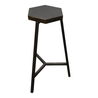 Industrial Weathered Bar Stool For Sale