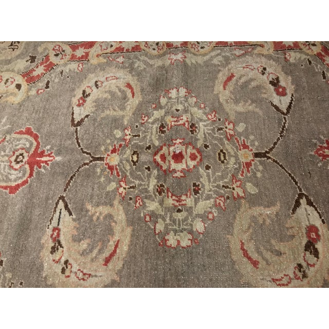 "Bellwether Rugs Antique Turkish Oushak Rug - 4'3""x6'2"" - Image 4 of 10"