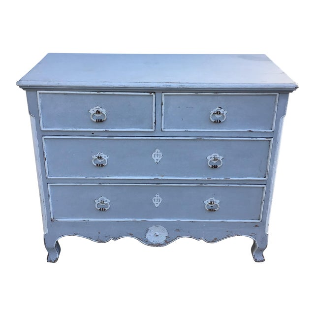 Antique French Provincial Painted Chest For Sale
