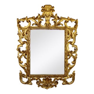 Mid Century Modern Hollywood Regency Rococo Gold Gilt Mirror La Barge Style 60s For Sale
