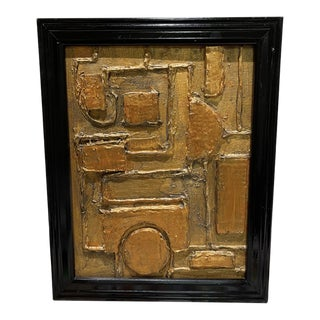 Contemporary Abstract Mixed-Media Painting by Tony Marine, Framed For Sale
