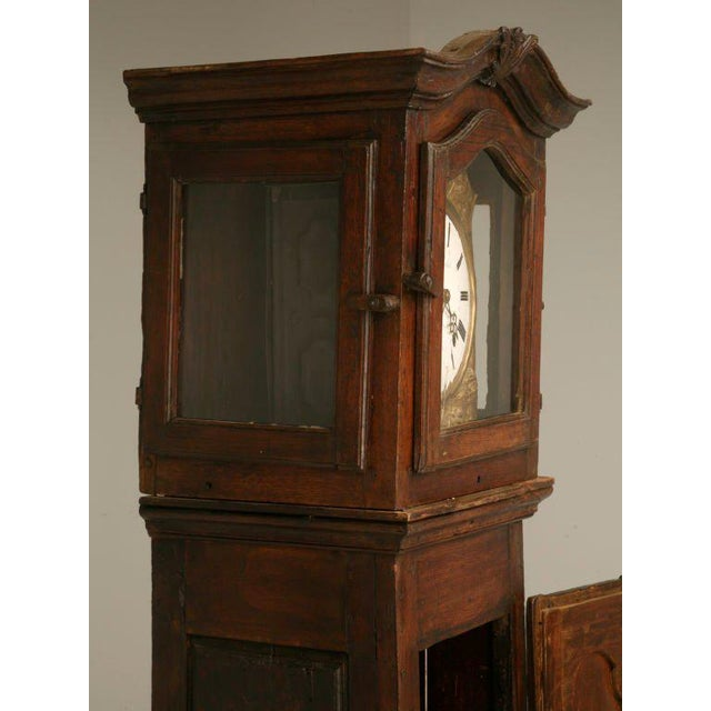 C1820 French Antique Tall Case Clock For Sale In Chicago - Image 6 of 10
