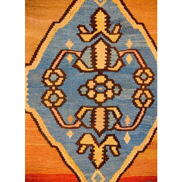 1930s Bold Early 20th Century Azari Kilim Runner For Sale - Image 5 of 9