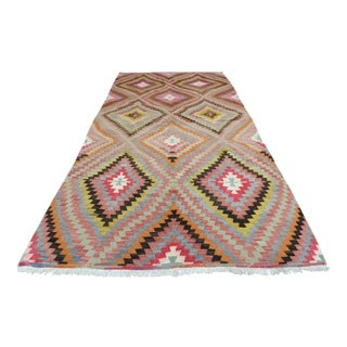 Mid 20th Century Anatolia Turkish Kilim Rug- 6′ × 11′ For Sale