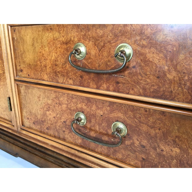 Asian Chinoiserie Burlwood 12-Drawer Dresser by American of Martinsville - Image 5 of 8
