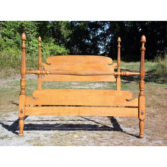 Vintage Ethan Allen Baumritter Early American Maple Full Double Poster Bed For Sale - Image 12 of 12