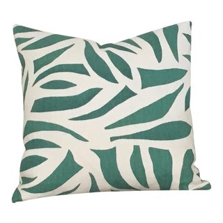 Contemporary Lulu Dk Azul in Green Pillow Cover - 18x18 For Sale
