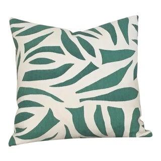 Contemporary Lulu Dk Azul in Green Pillow Cover - 18x18