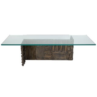 "Paul Evans ""Sculpted Metal"" Rectangular Coffee Table, 1970 For Sale"