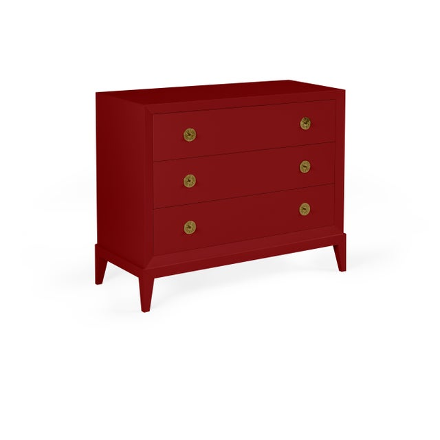 Transitional Casa Cosima Hayes Chest, Classic Burgundy For Sale - Image 3 of 3