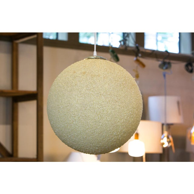 Modern Textured Globe-Shaped Light For Sale In Houston - Image 6 of 6