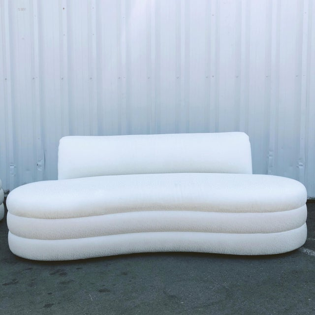 Curved Couches After Vladimir Kagan - a Pair For Sale - Image 9 of 13