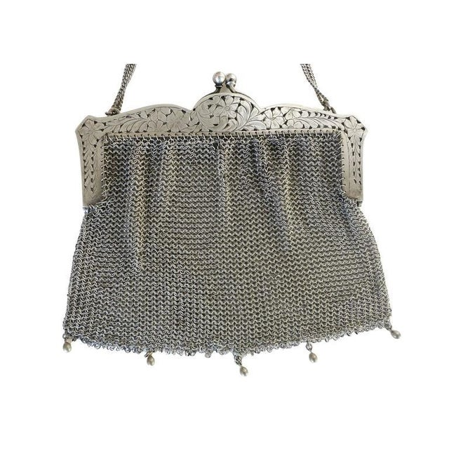 Sterling Silver Victorian Chain Mesh Purse - Image 2 of 5
