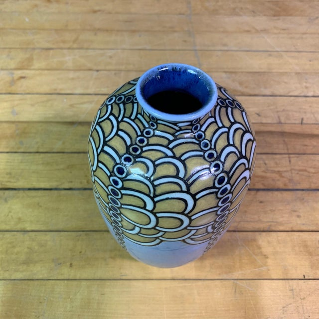 Royal Doulton 1920s Harry Simeon Sessionist Vase, Royal Doulton, England For Sale - Image 4 of 9